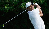 Tiger Woods hits a shot during the proam prior to the start of the Hero World Challenge at the Isleworth Golf Country Club on December 3 2014 in...