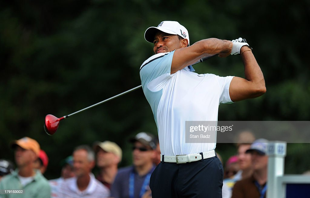 <a gi-track='captionPersonalityLinkClicked' href=/galleries/search?phrase=Tiger+Woods&family=editorial&specificpeople=157537 ng-click='$event.stopPropagation()'>Tiger Woods</a> hits a tee shot on the sixth hole during the second round of the Deutsche Bank Championship at TPC Boston on August 31, 2013 in Norton, Massachusetts.