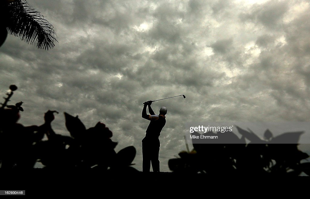 <a gi-track='captionPersonalityLinkClicked' href=/galleries/search?phrase=Tiger+Woods&family=editorial&specificpeople=157537 ng-click='$event.stopPropagation()'>Tiger Woods</a> hits his tee shot on the 15th hole during the second round of the Honda Classic at PGA National Resort and Spa on March 1, 2013 in Palm Beach Gardens, Florida.