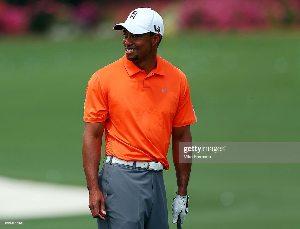 <a gi-track='captionPersonalityLinkClicked' href=/galleries/search?phrase=Tiger+Woods&family=editorial&specificpeople=157537 ng-click='$event.stopPropagation()'>Tiger Woods</a> of the United States looks on from practice range during a practice round prior to the start of the 2013 Masters Tournament at Augusta National Golf Club on April 8, 2013 in Augusta, Georgia.