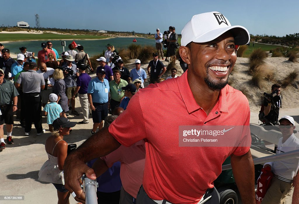 Tiger Woods of the United States smiles after the completion of the pro-am for the Hero World Challenge at Albany, The Bahamas on November 30, 2016 in Nassau, Bahamas.