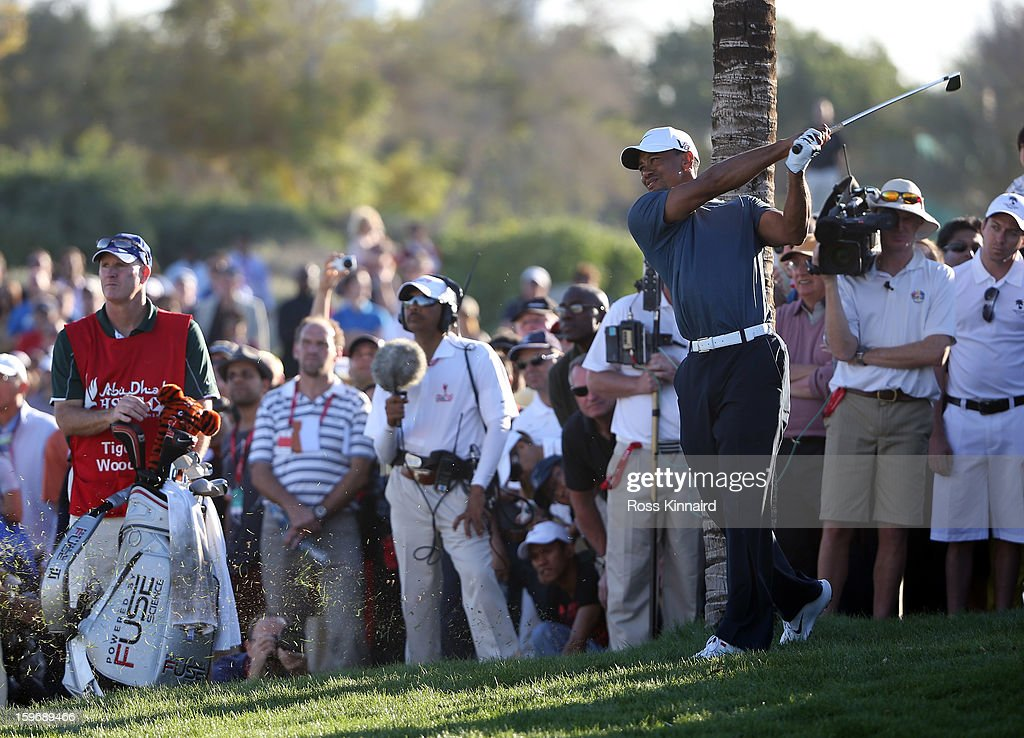<a gi-track='captionPersonalityLinkClicked' href=/galleries/search?phrase=Tiger+Woods&family=editorial&specificpeople=157537 ng-click='$event.stopPropagation()'>Tiger Woods</a> of the USA during the second round of the Abu Dhabi HSBC Golf Championship at the Abu Dhabi Golf Club on January 18, 2013 in Abu Dhabi, United Arab Emirates.