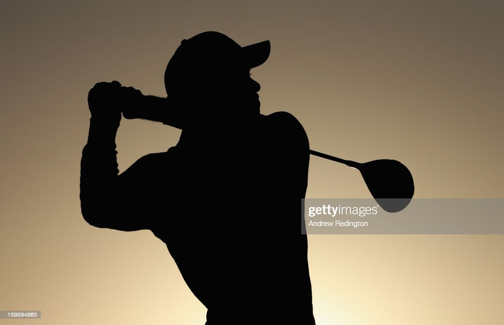 <a gi-track='captionPersonalityLinkClicked' href=/galleries/search?phrase=Tiger+Woods&family=editorial&specificpeople=157537 ng-click='$event.stopPropagation()'>Tiger Woods</a> of the USA hits his tee-shot on the first hole during the first round of The Abu Dhabi HSBC Golf Championship at Abu Dhabi Golf Club on January 17, 2013 in Abu Dhabi, United Arab Emirates.