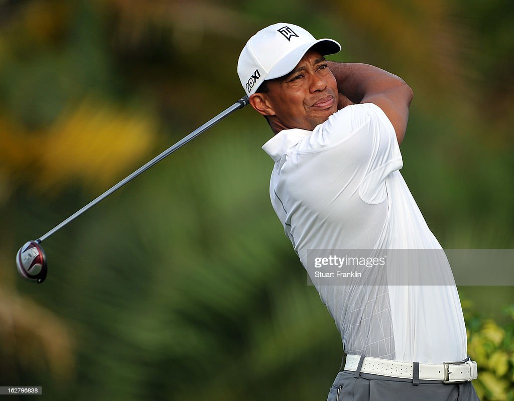 Tiger Woods of USA plays a shot during the pro am of the Honda Classic at PGA National on February 27, 2013 in Palm Beach Gardens, Florida.
