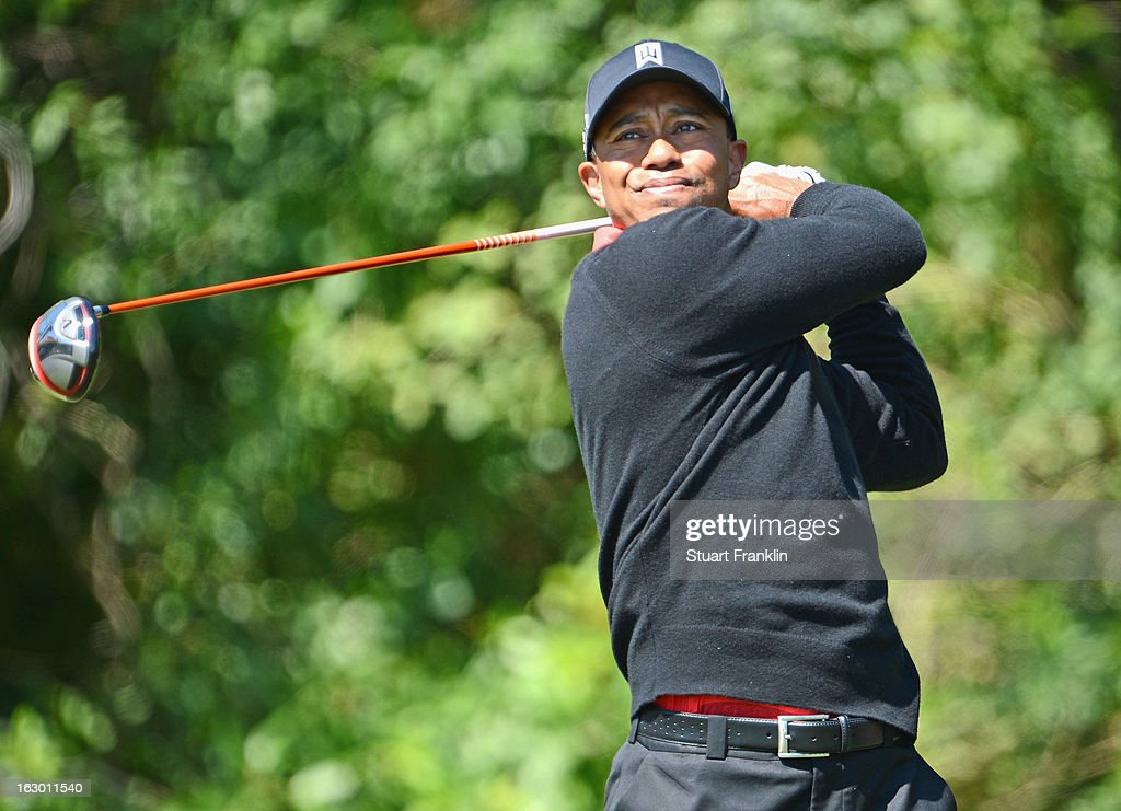 Tiger Woods of USA plays his tee shot on the third hole during the final round of the Honda Classic on March 3, 2013 in Palm Beach Gardens, Florida.