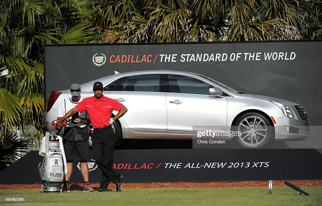 Tiger Woods on the 13th tee during the final round of the World Golf Championships-Cadillac Championship at TPC Blue Monster at Doral on March 10, 2013 in Doral, Florida.