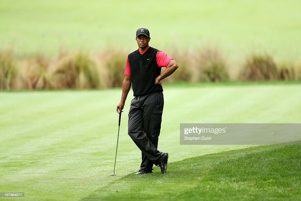 <a gi-track='captionPersonalityLinkClicked' href=/galleries/search?phrase=Tiger+Woods&family=editorial&specificpeople=157537 ng-click='$event.stopPropagation()'>Tiger Woods</a> waits to putt on the 16th hole during the final round of the <a gi-track='captionPersonalityLinkClicked' href=/galleries/search?phrase=Tiger+Woods&family=editorial&specificpeople=157537 ng-click='$event.stopPropagation()'>Tiger Woods</a> World Challenge Presented by Northwestern Mutual at Sherwood Country Club on December 2, 2012 in Thousand Oaks, California.