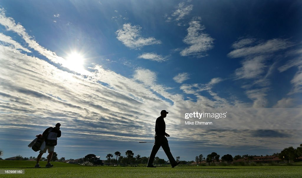 Tiger Woods walks off the fifth hole during the third round of the Honda Classic at PGA National Resort and Spa on March 2, 2013 in Palm Beach Gardens, Florida.