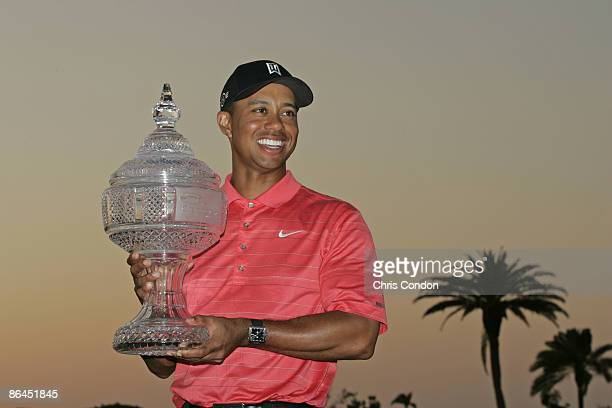 Tiger Woods wins the Ford Championship at Doral held on the Blue Course at Doral Golf Resort and Spa in Doral Florida on March 5 2006