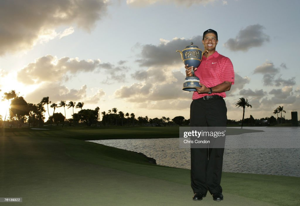 Tiger Woods wins the WGCCA Championship held on the Blue Course at Doral Golf Resort and Spa in Doral Florida on March 25 2007 Photo by Chris...