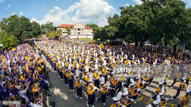 Tigers fans enter the stadium before a game between Syracuse Orangemen v LSU Tigers on September 23 2017 at Tiger Stadium in Baton Rouge Louisiana