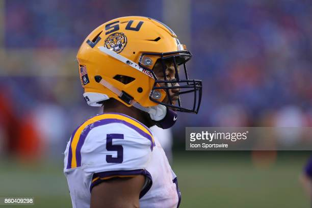 Tigers running back Derrius Guice during the college football game between the LSU Tigers and Florida Gators on October 07 at Ben Hill Griffin...