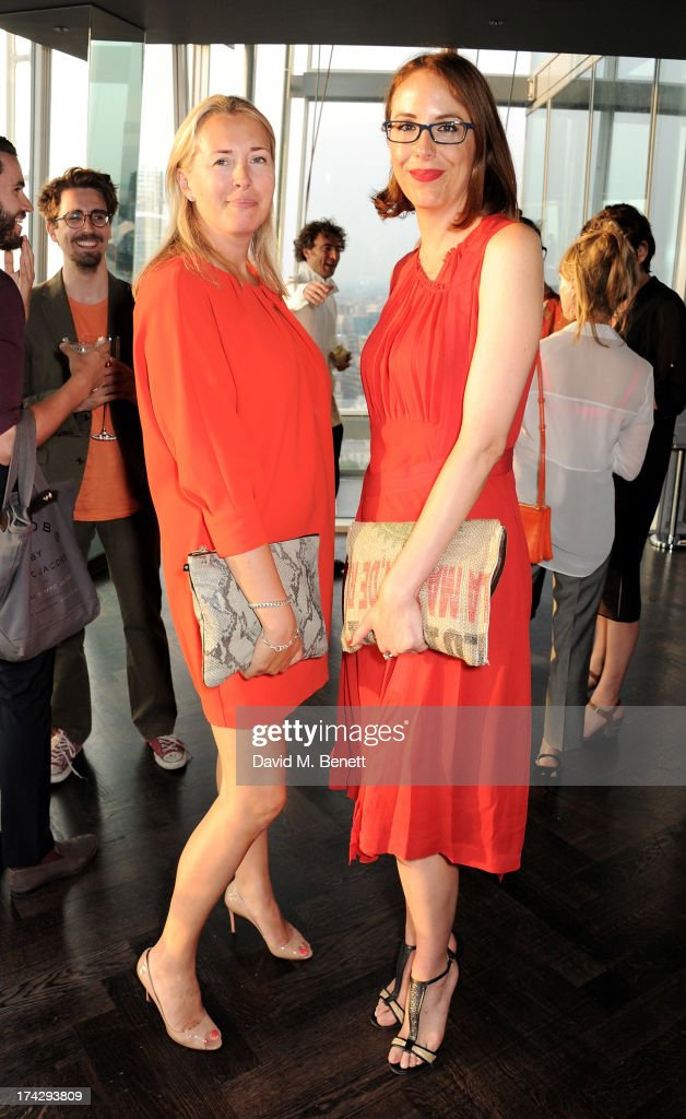 Tiggy Kennedy (L) and Vanessa Arelle attend the London Design Festival dinner hosted by Ben Evans at Aqua Shard on July 23, 2013 in London, England.