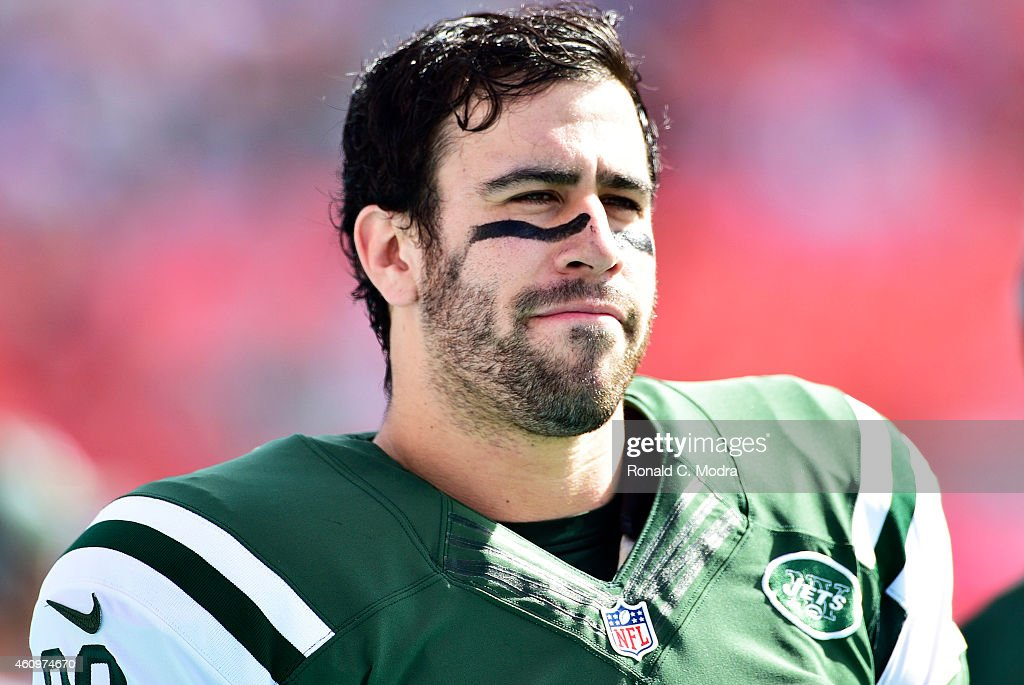 Tight end <a gi-track='captionPersonalityLinkClicked' href=/galleries/search?phrase=Jace+Amaro&family=editorial&specificpeople=10097057 ng-click='$event.stopPropagation()'>Jace Amaro</a> #88 of the New York Jets looks on before a game against the Miami Dolphins at Sun Life Stadium on December 28, 2014 in Miami Gardens, Florida.