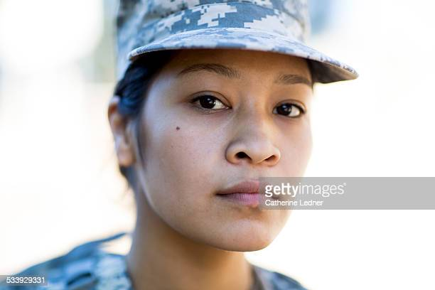 Tight Portrait of Army Woman