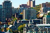 Tight view of Montreal Quebec, Canada.