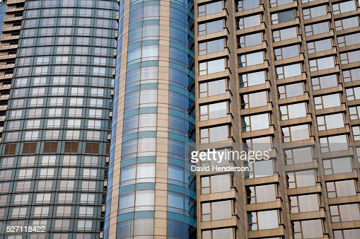 Tightly packed skyscrapers : Stock Photo