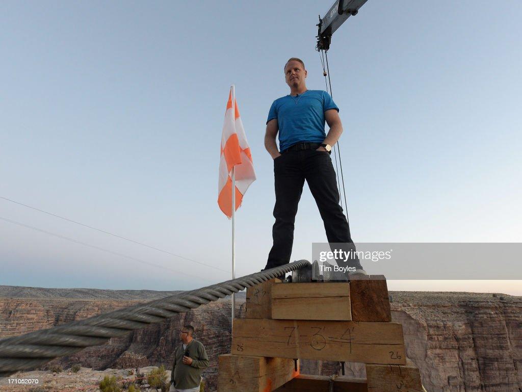 Tightrope Walker Nik Wallenda Prepares To Walk Across The Grand Canyon - Day 1