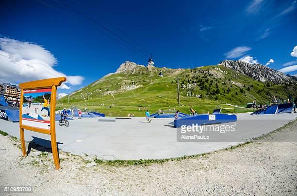 Tignes skateboard and BMX bike park