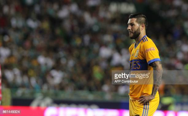 Tigres' French player Andre Gignac is pictured during the Mexican Apertura football tournament match against Leon at the Nou Camp stadium in Leon...