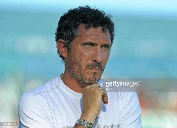 Tigre's team coach Diego Cagna looks at their Argentina first division football match against Banfield in Victoria Buenos Aires province on December...
