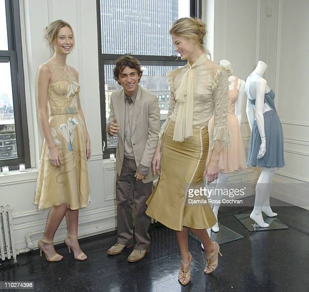 Tiiu Esteban Cortazar and Michelle during Olympus Fashion Week Fall 2006 Esteban Cortazar Presentation at Michael Atchison Showroom in New York City...