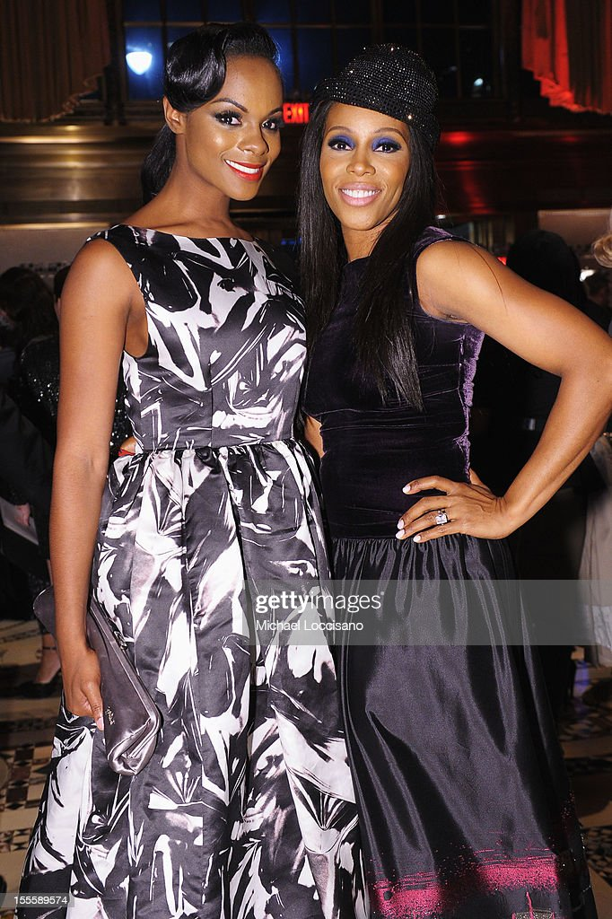 Tika Sumpter (L) and June Ambrose attend the 16th Annual ACE Awards presented by the Accessories Council at Cipriani 42nd Street on November 5, 2012 in New York City.