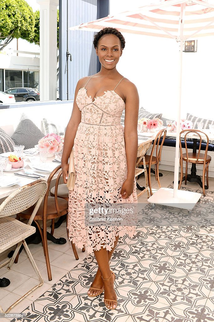 Tika Sumpter attends Glamour's Game Changers Lunch hosted by EditorinChief Cindi Leive Zendaya at AU FUDGE on April 20 2016 in West Hollywood...
