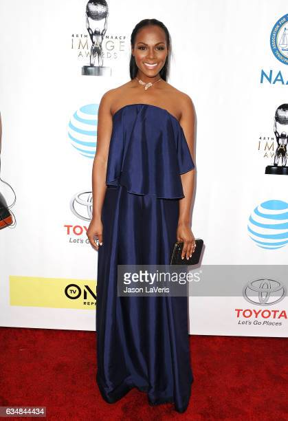 Tika Sumpter attends the 48th NAACP Image Awards at Pasadena Civic Auditorium on February 11 2017 in Pasadena California