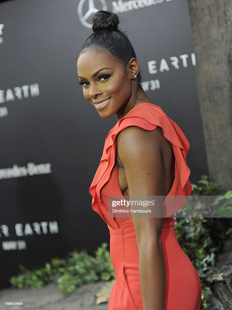 Tika Sumpter attends the 'After Earth' premiere at the Ziegfeld Theater on May 29, 2013 in New York City.