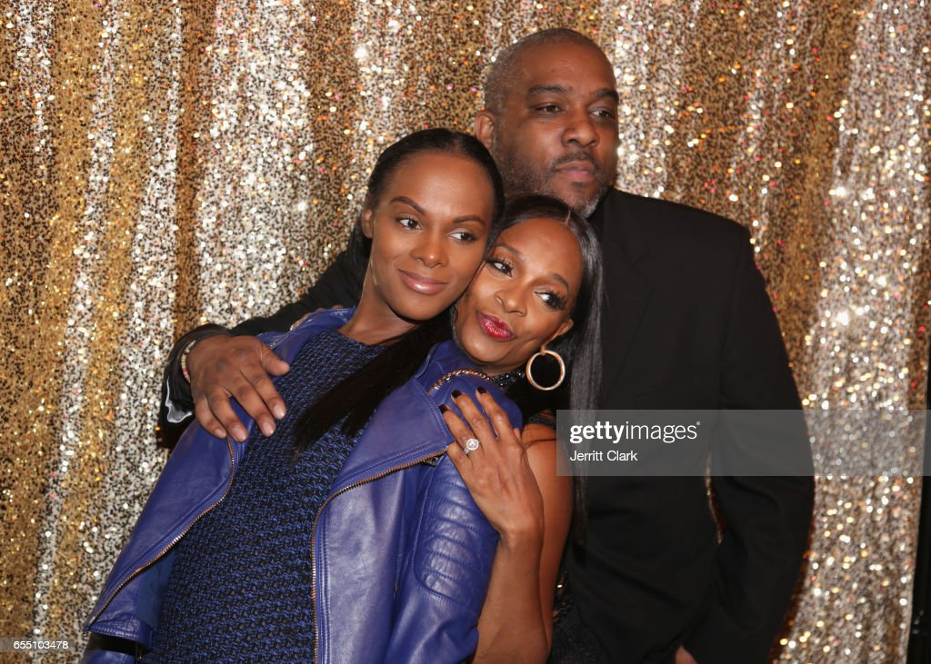 Tika Sumpter, Vanessa Bell Calloway and guest attend Vanessa Bell Calloway's 60th Birthday Bash at Cicada on March 18, 2017 in Los Angeles, California.