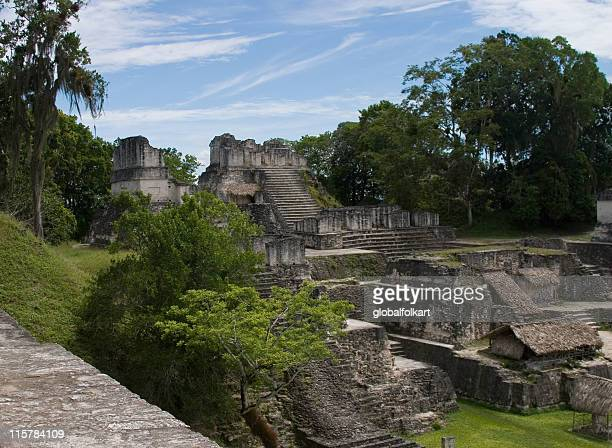 Tikal temples and rainforest  Guatemala
