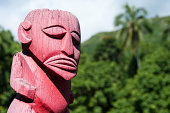 Tiki at Marae site