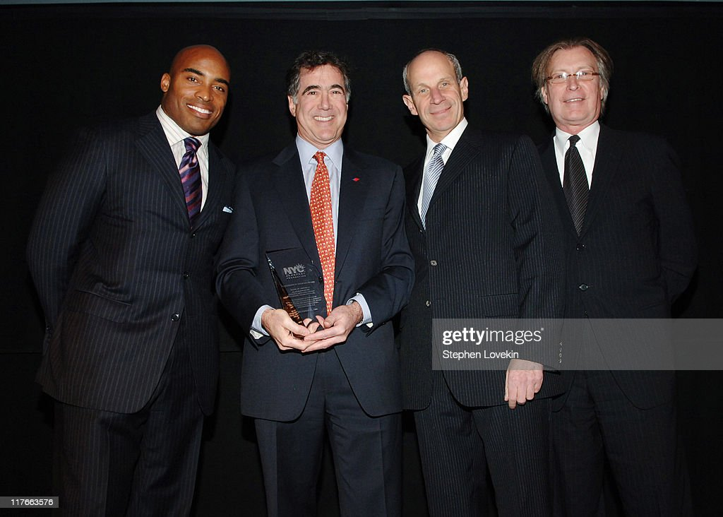 Tiki Barber Alan Rappaport of Bank of America Jonathan Tisch and George Fertitta CEO of NYC and Company