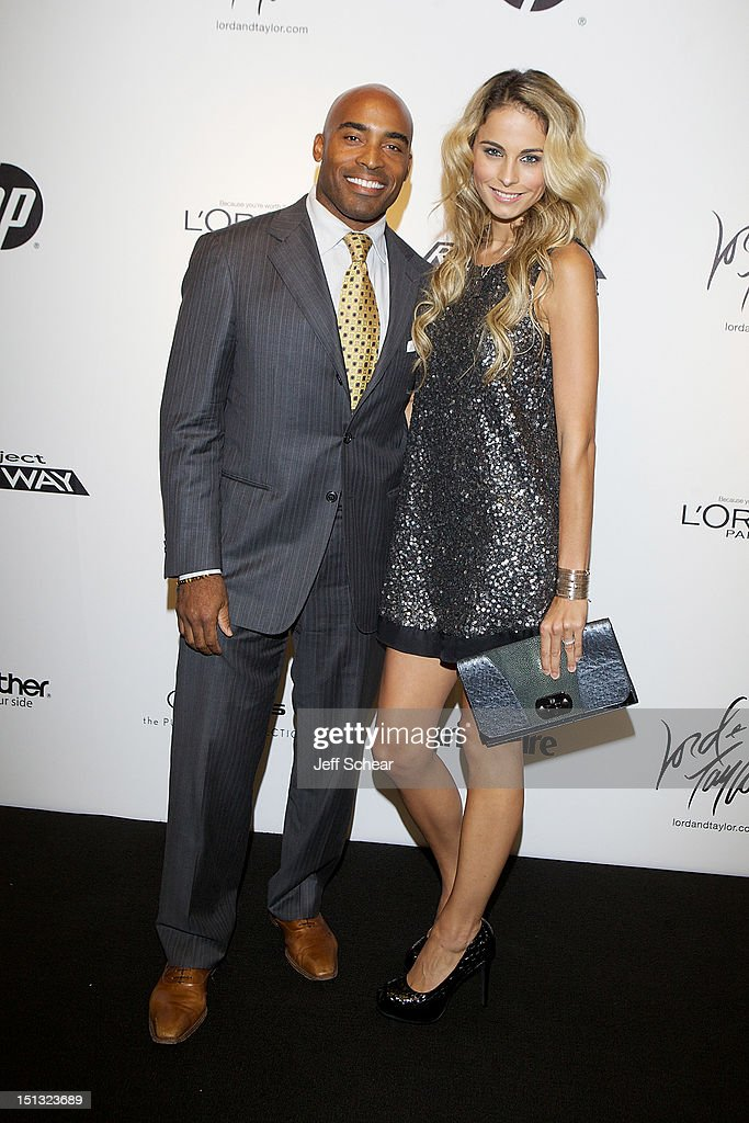 <a gi-track='captionPersonalityLinkClicked' href=/galleries/search?phrase=Tiki+Barber&family=editorial&specificpeople=184538 ng-click='$event.stopPropagation()'>Tiki Barber</a> and Traci Barber attend the Project Runway Season 10 Wrap Party at Lord & Taylor on September 5, 2012 in New York City.