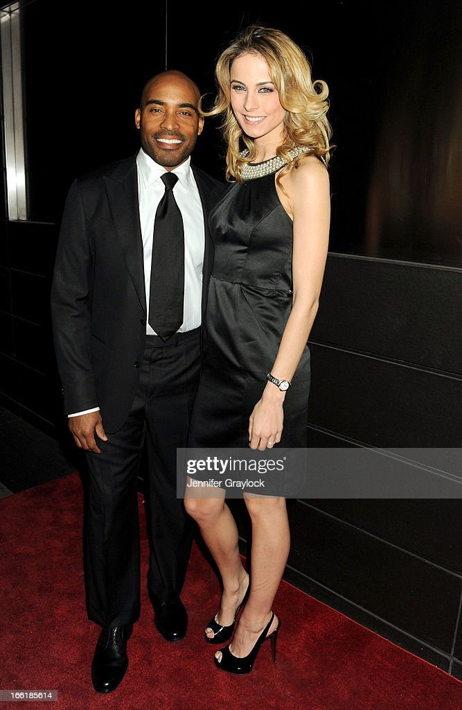 Tiki Barber and Traci Lynn Johnson attend the New Yorkers for Children 10th Anniversary Spring Dinner Dance New Year's in April: A Fool's Fete to benefit youth in foster care presented by Valentino at Mandarin Oriental Hotel on April 9, 2013 in New York City.