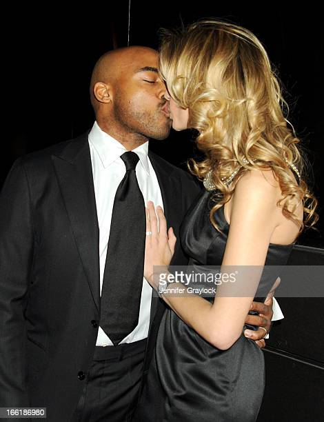 Tiki Barber and Traci Lynn Johnson attend the New Yorkers for Children 10th Anniversary Spring Dinner Dance New Year's in April A Fool's Fete to...