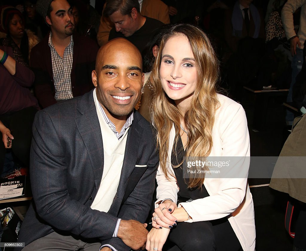 <a gi-track='captionPersonalityLinkClicked' href=/galleries/search?phrase=Tiki+Barber&family=editorial&specificpeople=184538 ng-click='$event.stopPropagation()'>Tiki Barber</a> (L) and Traci Lynn Johnson attend the Rookie USA Presents Kids Rock! - Front Row & Backstage - Fall 2016 New York Fashion Week: The Shows at Skylight at Moynihan Station on February 11, 2016 in New York City.
