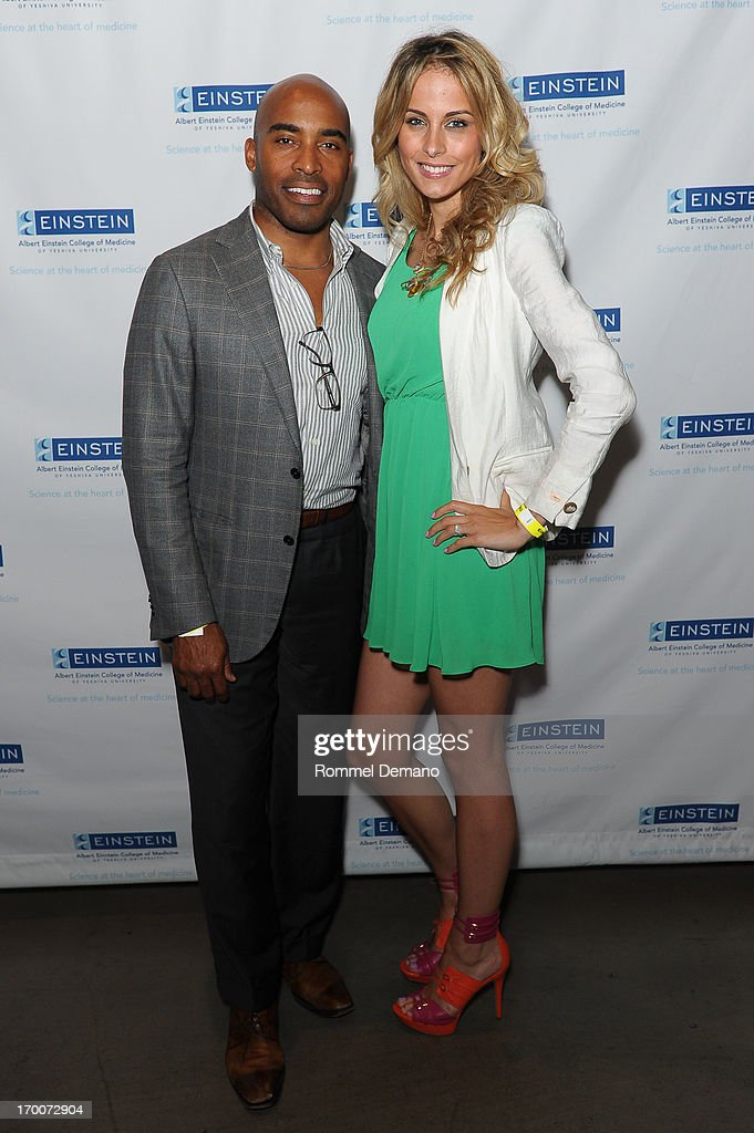 Tiki Barber and Tracy Johnson attend the Einstein Emerging Leaders 2nd Annual Gala at Dream Downtown on June 6, 2013 in New York City.