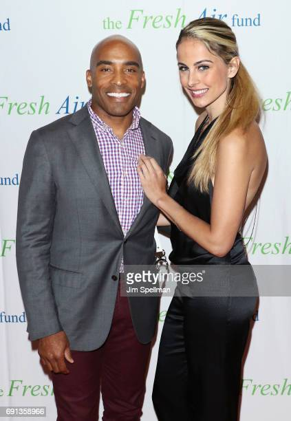 Tiki Barber and wife Traci Lynn Johnson attend the 2017 Fresh Air Fund Spring Benefit at Pier Sixty at Chelsea Piers on June 1 2017 in New York City