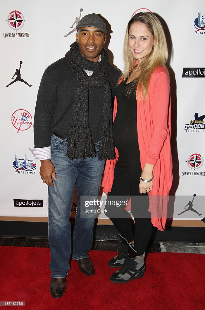 <a gi-track='captionPersonalityLinkClicked' href=/galleries/search?phrase=Tiki+Barber&family=editorial&specificpeople=184538 ng-click='$event.stopPropagation()'>Tiki Barber</a> and wife Traci Lynn Johnson attend the PitCCh In Foundation 2013 Challenge Rules Party at Luxe at Lucky Strike Lanes on November 8, 2013 in New York City.
