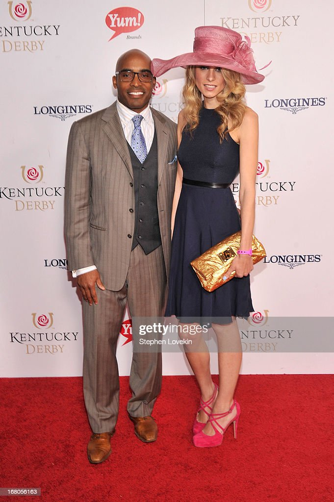 Tiki Barber (L) attends the 139th Kentucky Derby at Churchill Downs on May 4, 2013 in Louisville, Kentucky.