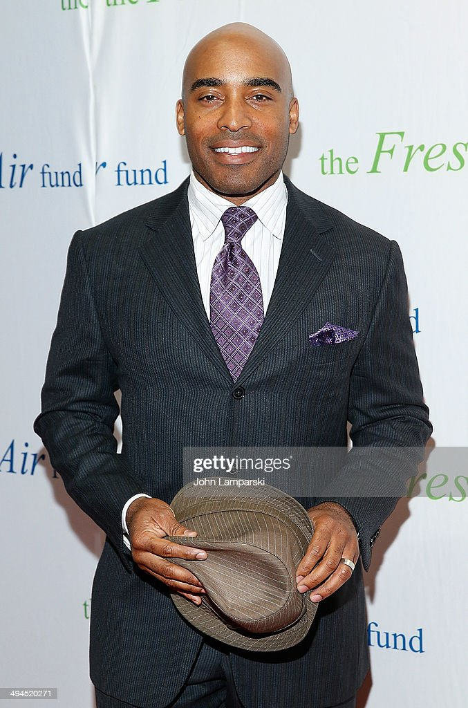 <a gi-track='captionPersonalityLinkClicked' href=/galleries/search?phrase=Tiki+Barber&family=editorial&specificpeople=184538 ng-click='$event.stopPropagation()'>Tiki Barber</a> attends the 2014 Fresh Air Fund Honoring Our American Hero at Pier Sixty at Chelsea Piers on May 29, 2014 in New York City.