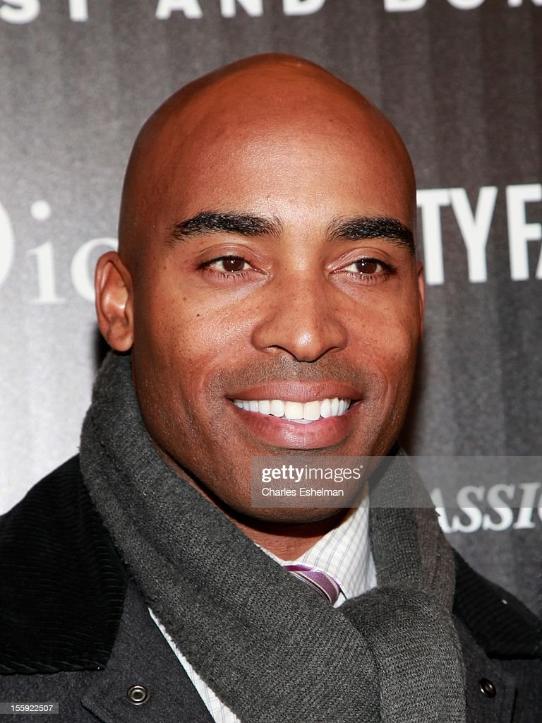 Tiki Barber attends The Cinema Society with Dior & Vanity Fair host a screening of 'Rust and Bone' at Landmark Sunshine Cinema on November 8, 2012 in New York City.