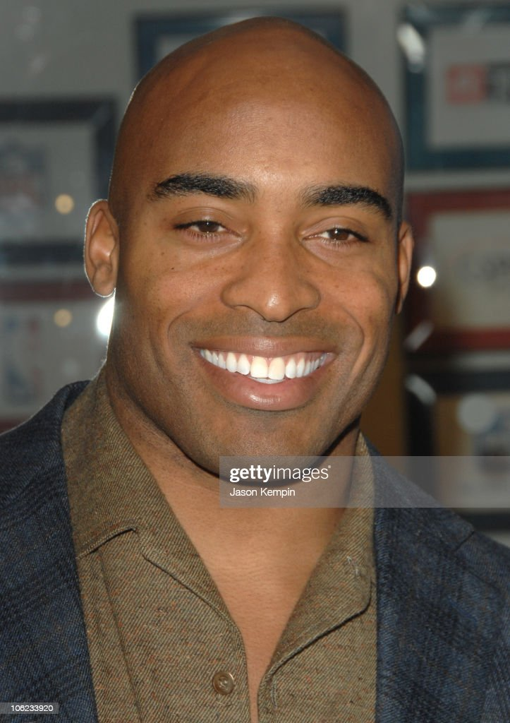 Tiki Barber during Jamie Foxx Launches 'The Foxxhole' Channel January 23 2007 at Sirius Satellite Radio Station in New York City New York United...