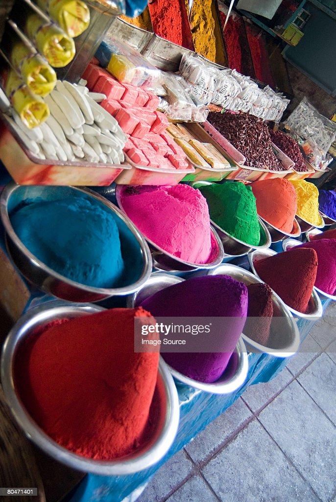 Tikka powder stall : Stock Photo