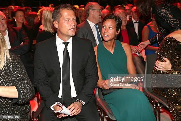 Til Schweiger and company Marlene are seen during the Tribute to Bambi 2015 show at Station on October 15 2015 in Berlin Germany