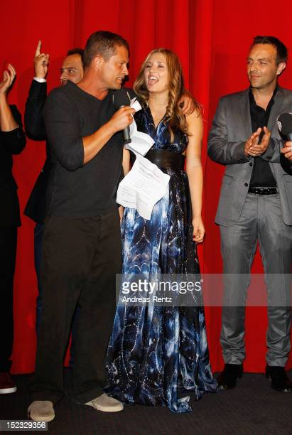 Til Schweiger and daughter Luna Schweiger attend the 'Schutzengel' Premiere at CineStar on September 18 2012 in Berlin Germany