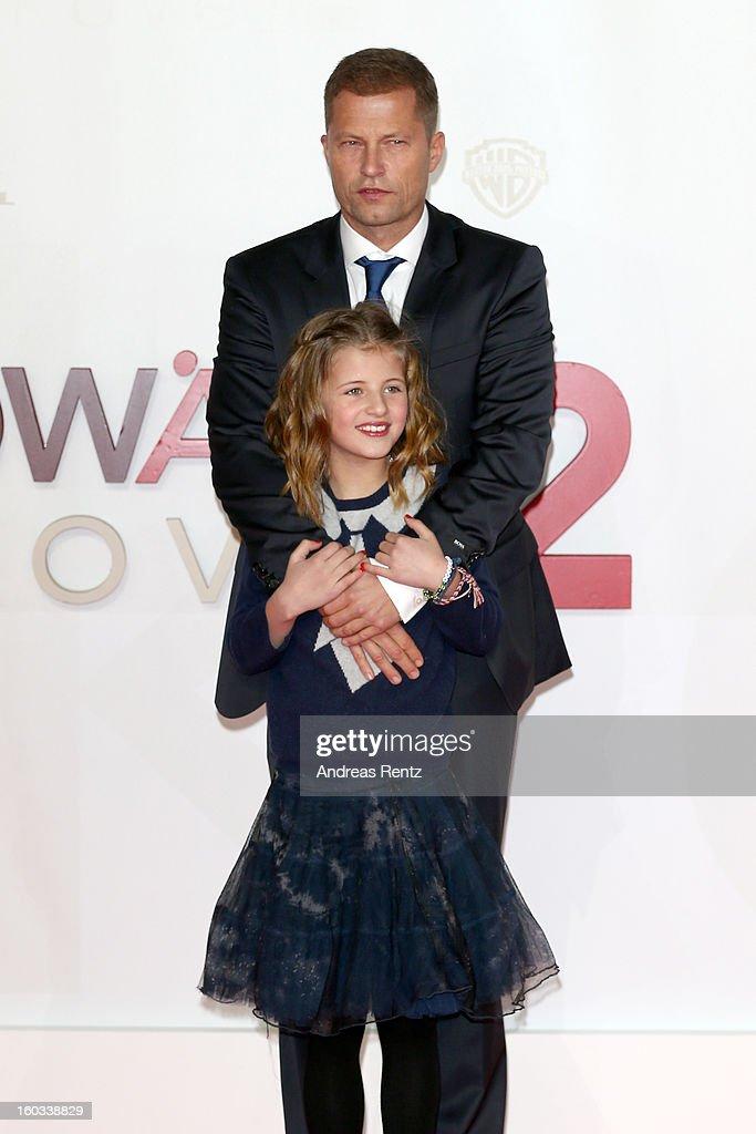 Til Schweiger and Emma Schweiger attend 'Kokowaeaeh 2' - Germany Premiere at Cinestar Potsdamer Platz on January 29, 2013 in Berlin, Germany.