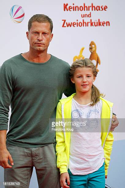 Til Schweiger and Emma Schweiger attend the 'Keinohrhase und Zweiohrkueken' Premiere at CineStar on September 22 2013 in Berlin Germany